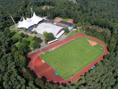 De atletiekpiste van Sport Vlaanderen